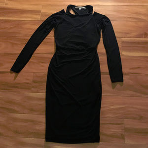 Rachel By Rachel Roy Black Long Sleeve Dress